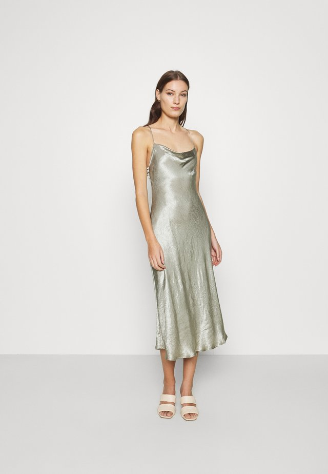 WATERS EDGE BIAS SLIP DRESS - Occasion wear - sage