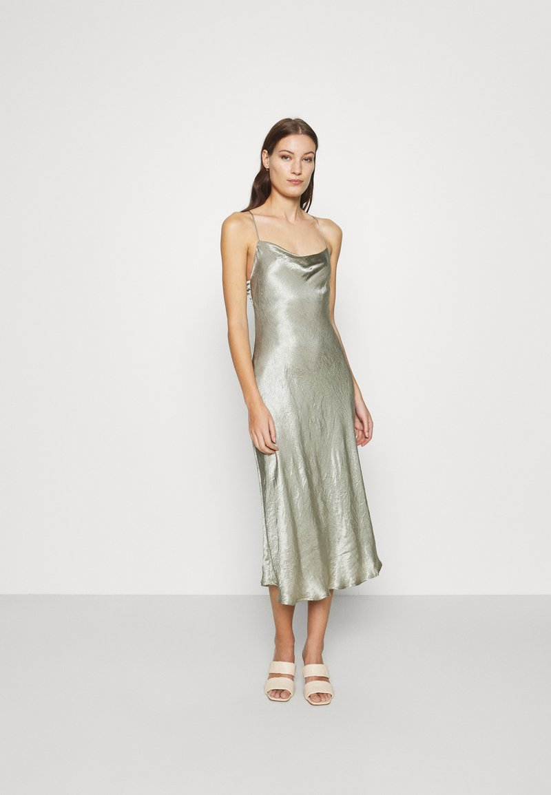 Third Form - WATERS EDGE BIAS SLIP DRESS - Occasion wear - sage