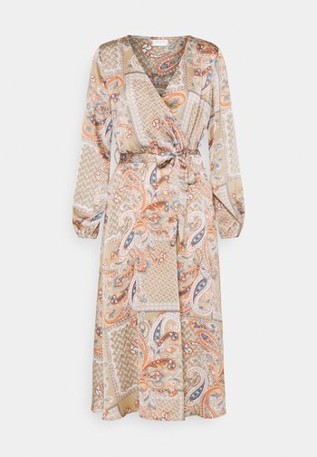 VIJOSE BLUME MEDI TIE DRESS - Kjole - sandshell