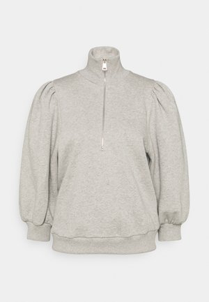 NANKITAGZ ZIPPER  - Sweatshirt - light grey melange