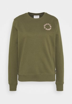 EASY CREWNECK WITH GRAPHIC - Mikina - army