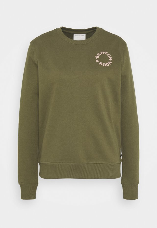EASY CREWNECK WITH GRAPHIC - Bluza - army