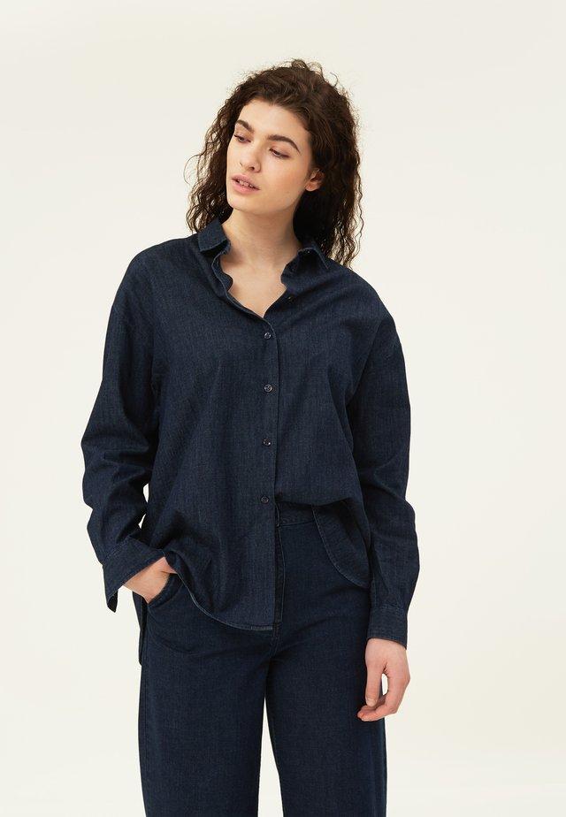 EDITH - Skjorta - dark blue denim