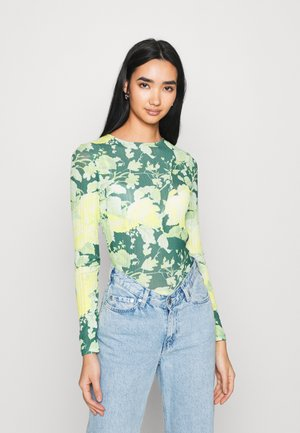 FLORAL - Long sleeved top - green