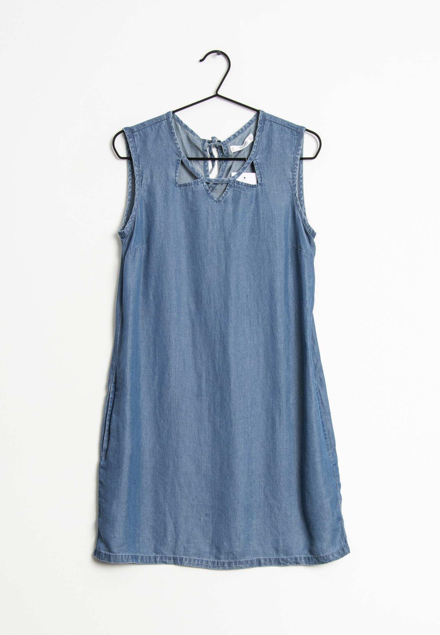 Mango Robe En Jean Blau Bleu Zalando Fr