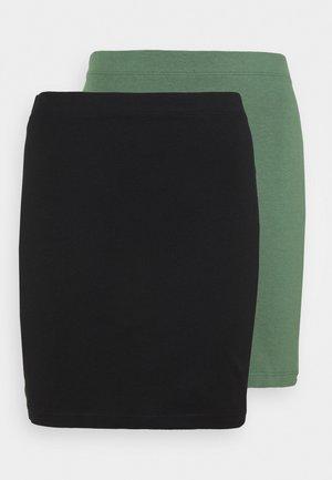 2 PACK - Miniskjørt - khaki/black