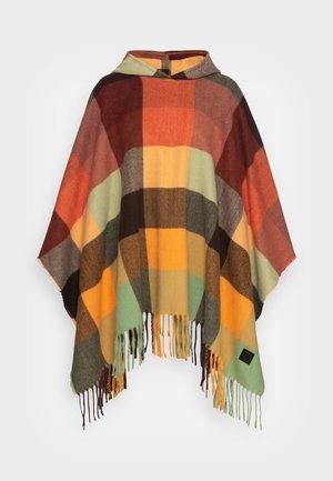 PONCHO CUADROS - Cape - brown