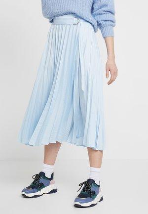 PLEAT MIDI - A-line skirt - light blue