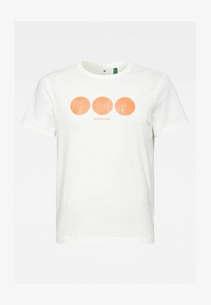 CIRCLE OBJECT BACK GRAPHIC - Print T-shirt - milk