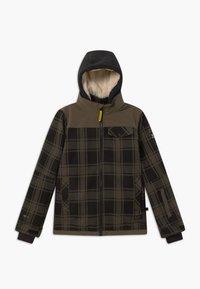 Brunotti - CHECK BOYS - Snowboardová bunda - pine grey - 0