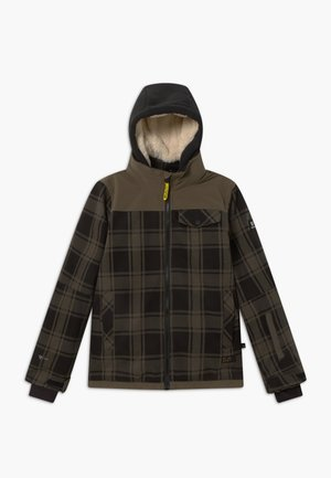 CHECK BOYS - Snowboardová bunda - pine grey