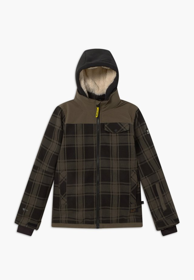 CHECK BOYS - Snowboard jacket - pine grey