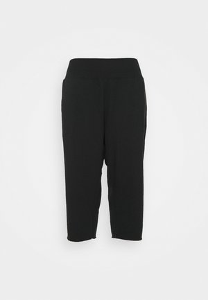 OFF MAT CROP PANT PLUS - Tracksuit bottoms - black/dark smoke grey