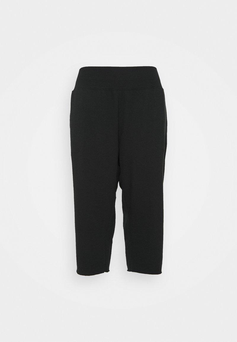 Nike Performance - OFF MAT CROP PANT PLUS - Tracksuit bottoms - black/dark smoke grey