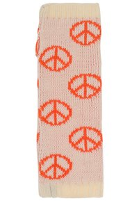 MyMo Accessories - Leg warmers - peace - weiß/orange