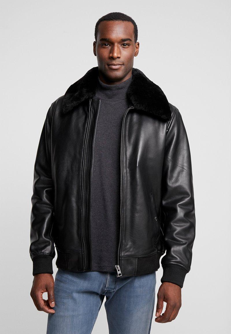 Oakwood - DADDY - Leather jacket - black