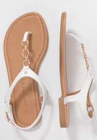 New Look Wide Fit - WIDE FIT HOXTON - Flip Flops - white - 3