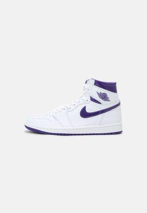 WOMENS AIR JORDAN 1 HIGH - Sneakersy wysokie - white/court purple
