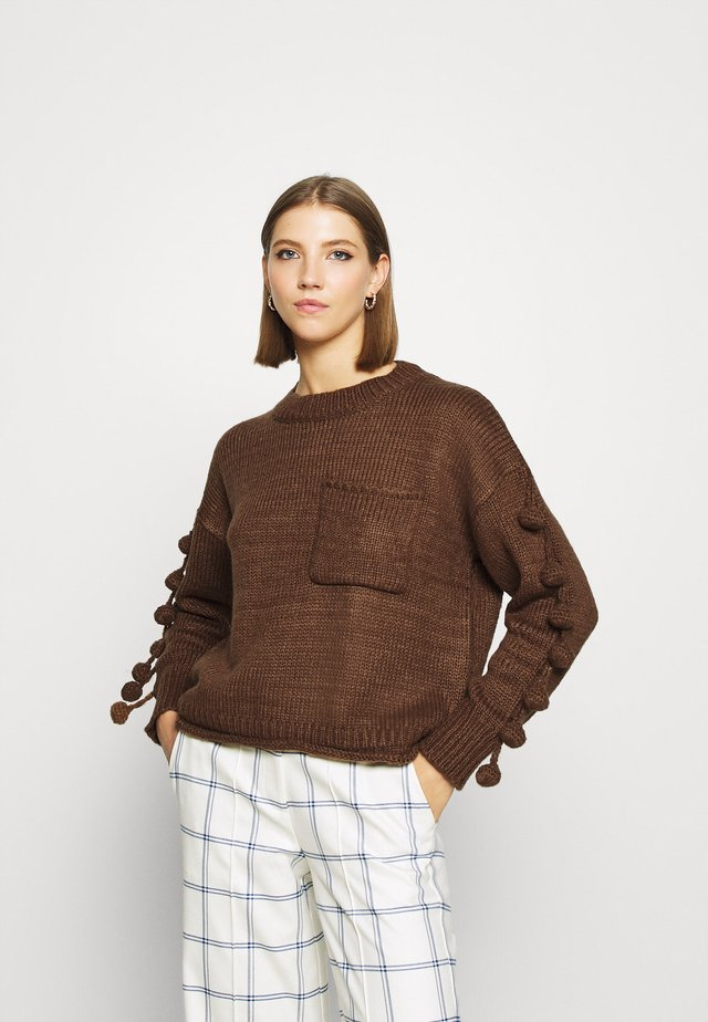 YOUNG LADIES - Sweter - brown