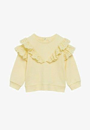 Sweatshirt - geel