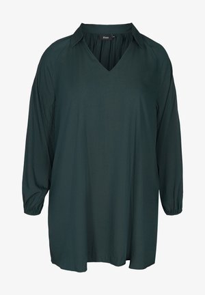 LONG-SLEEVED - Tunique - green