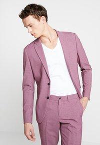 Lindbergh - PLAIN MENS SUIT - Kostuum - dusty pink melange - 6