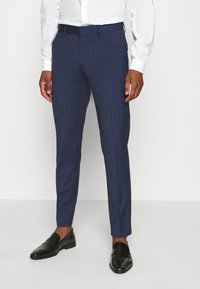 Isaac Dewhirst - CHECK TUX - Garnitur - dark blue - 4