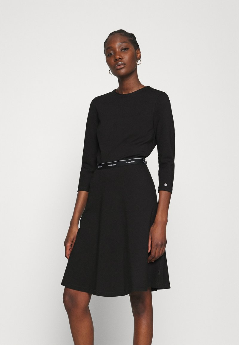 Calvin Klein - MILANO DRESS - Žerzejové šaty - black