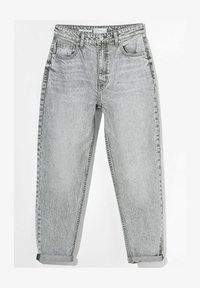 Bershka - MOM FIT JEANS - Relaxed fit jeans - grey - 4
