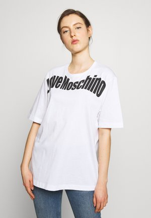 T-shirt z nadrukiem - optical white