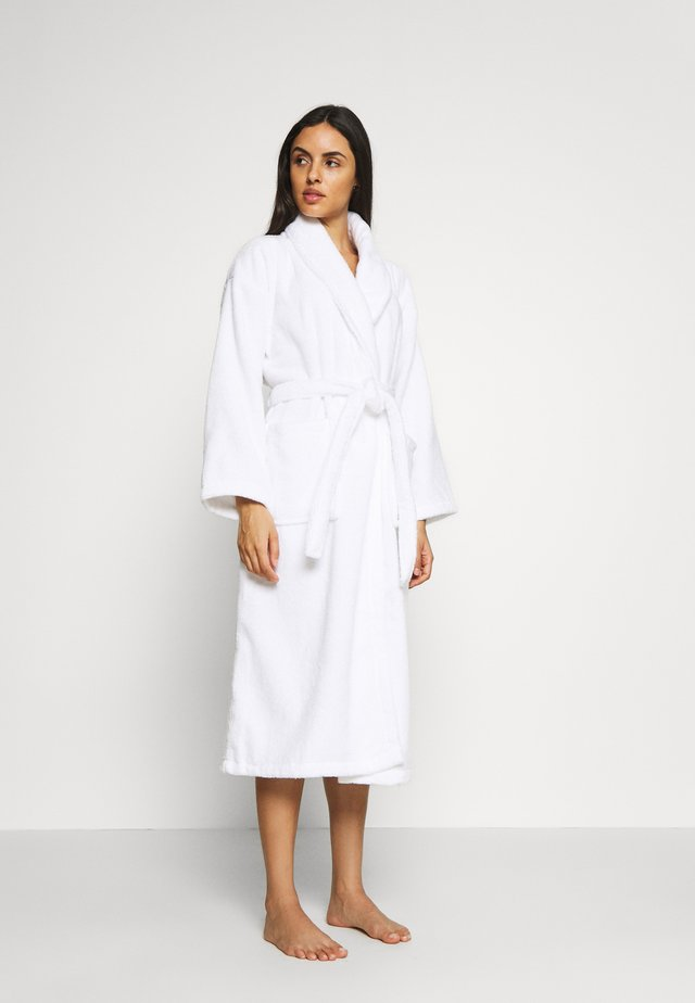 PLAIN TOWELLING GOWN - Badjas - white