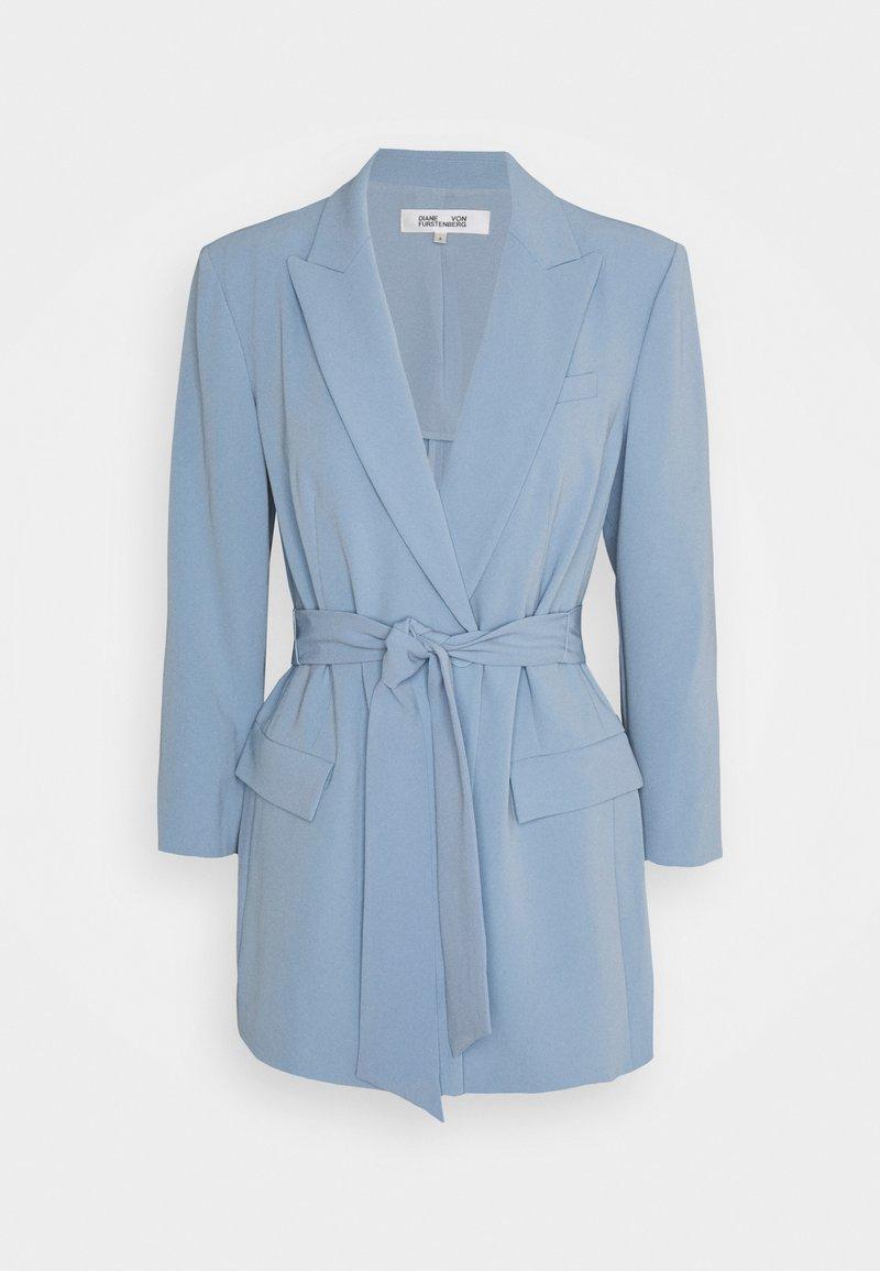 Diane von Furstenberg - JASMINE - Pitkä takki - lightsteel blue