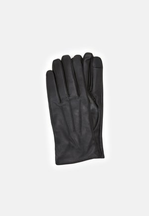 LEATHER TOUCH SCREEN - Fingervantar - black
