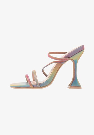 CRISTINA - Heeled mules - multicolor