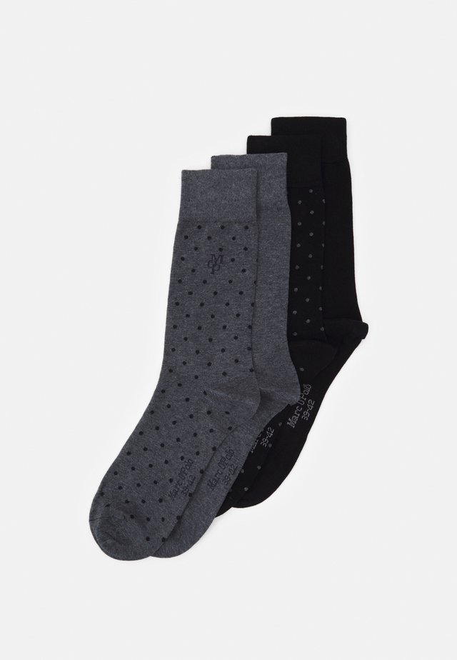 SOCKS 4 PACK - Ponožky - black/grey