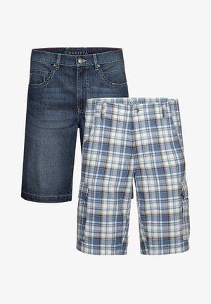 2 PACK - Denim shorts - blau weiß