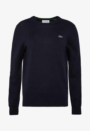 MIT RUNDHALS-AUSSCHNITT - Sweter - navy blue