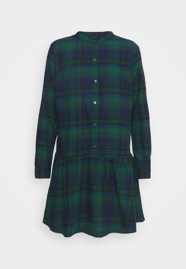 DRESS PLAID - Shirt dress - dark green