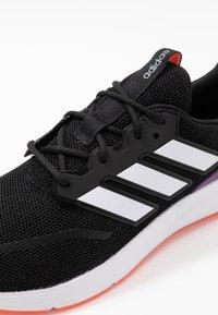 adidas Performance - ENERGYFALCON - Obuwie do biegania treningowe - core black/footwear white/signal coral - 5