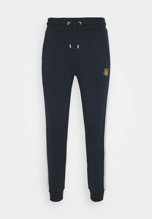 CUT AND SEW JOGGERS - Pantaloni sportivi - navy/cream
