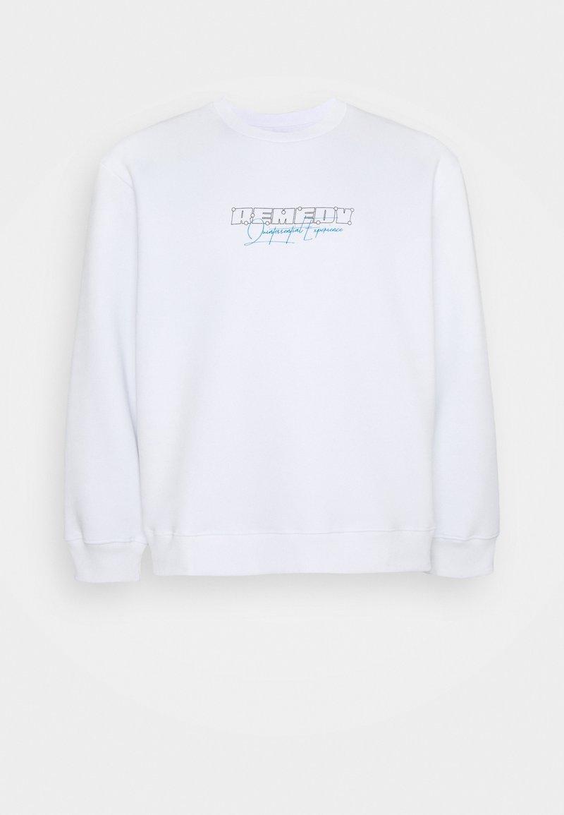 Topman - BIG REMEDY PRINT  - Sweatshirt - white