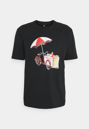OFF THE CART GRAPHIC TEE - T-shirt print - black