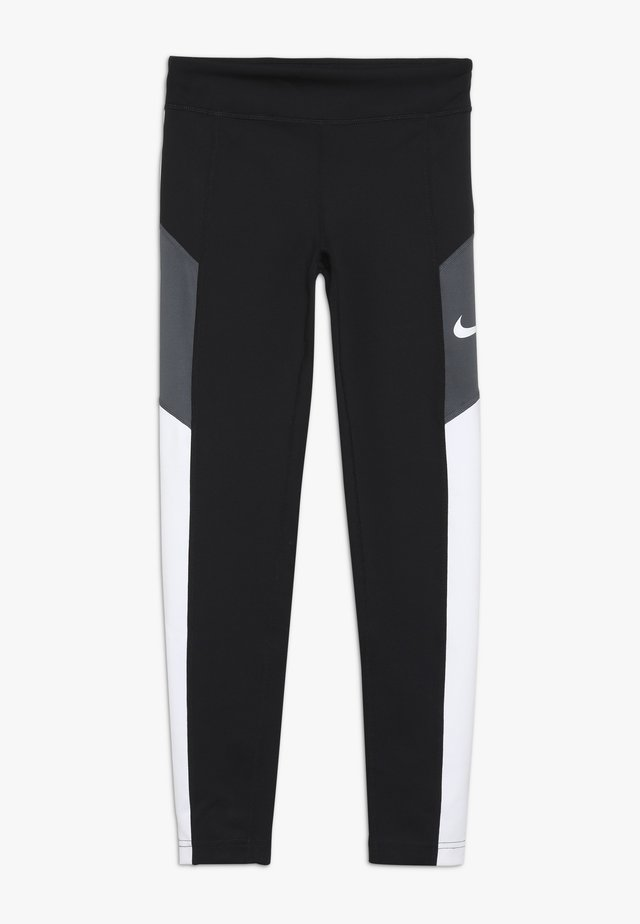 TROPHY - Leggings - black/white/dark grey