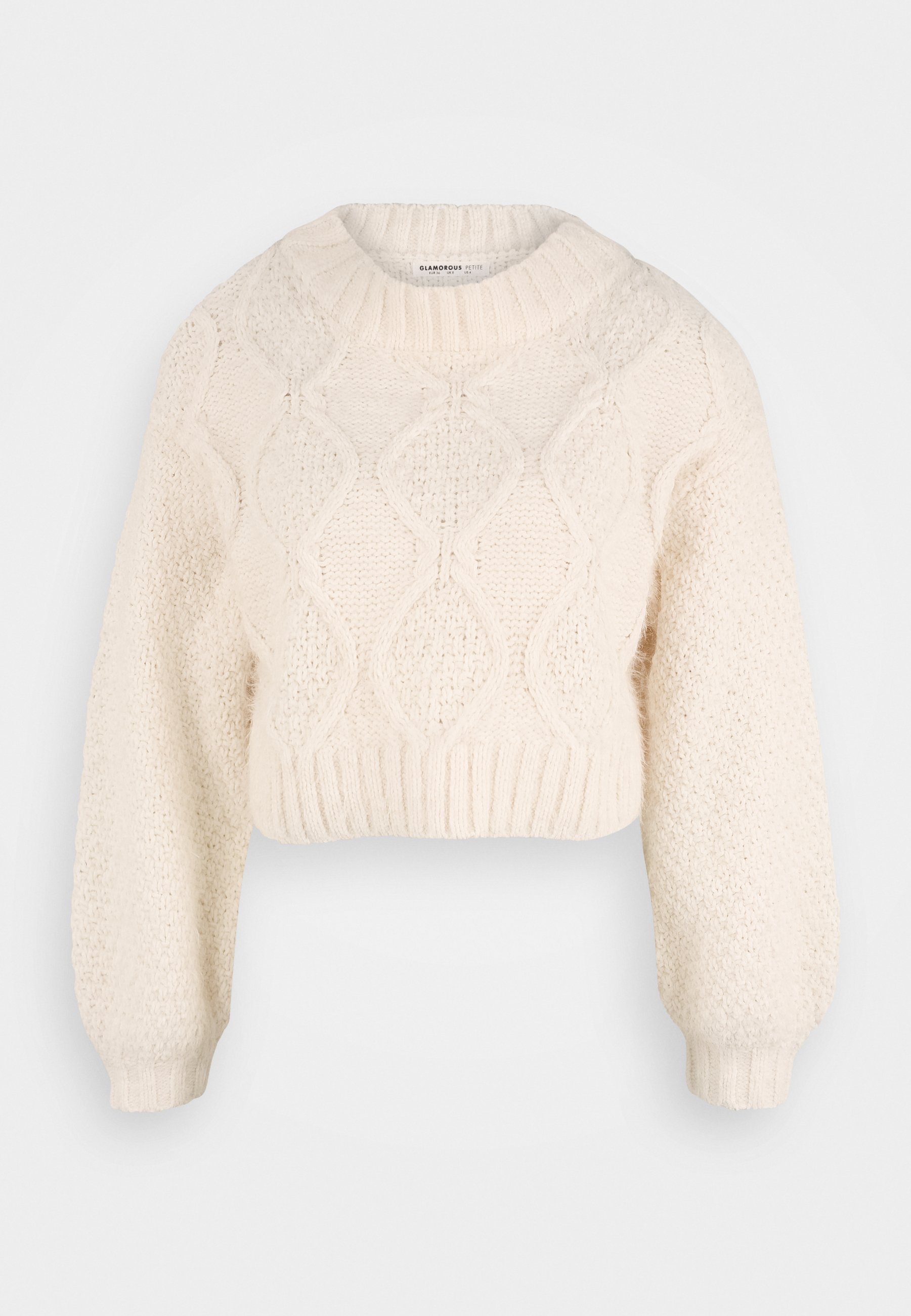 Damen CROP JUMPER WITH LONG SLEEVES AND BOAT NECK - Strickpullover