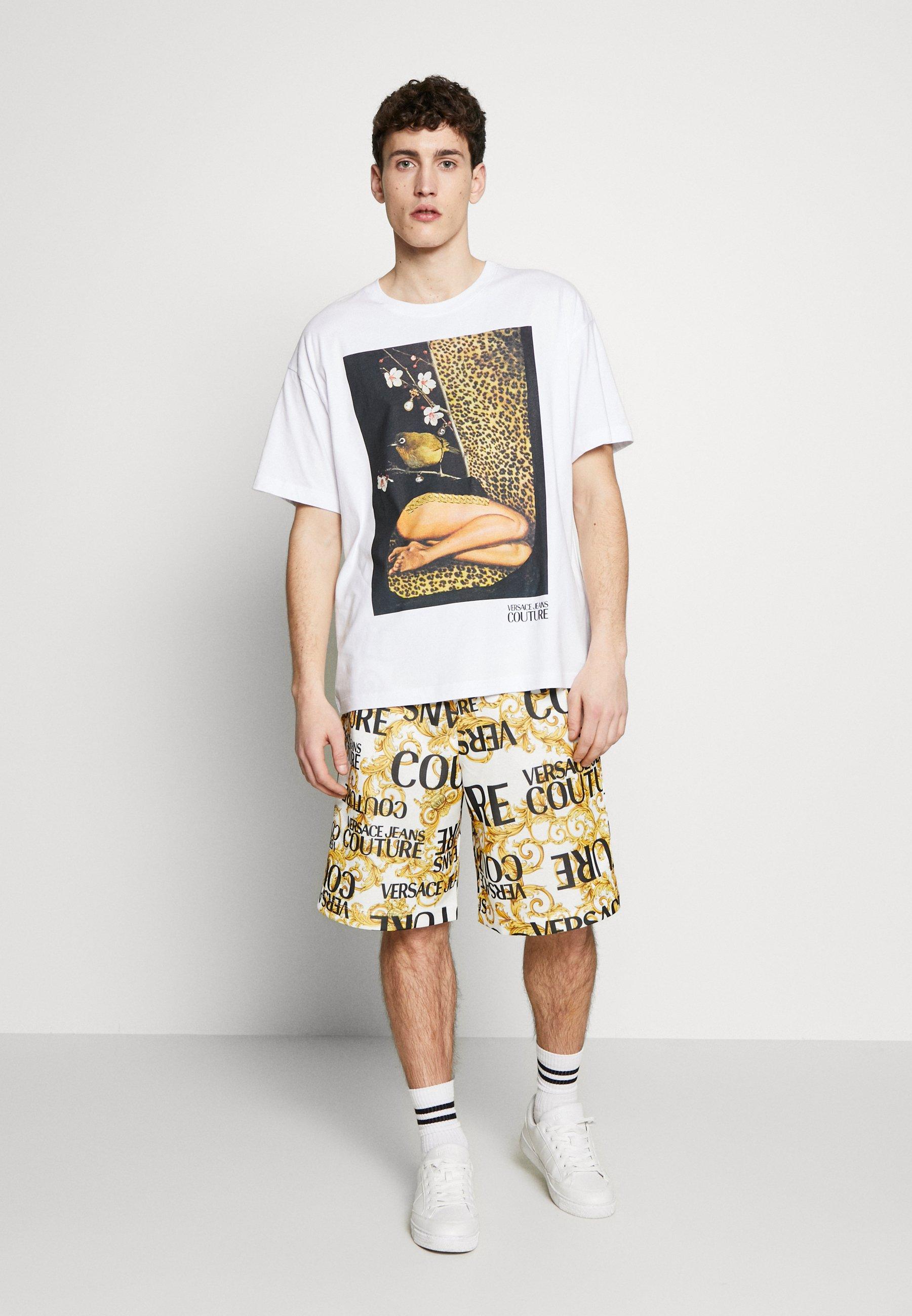 Versace Jeans Couture CAPSULE - T-shirt imprimé - white