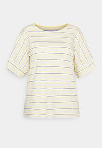 MY TRUE ME TOM TAILOR - MULTICOLOR STRIPES - Print T-shirt - soft blue/yellow - 0