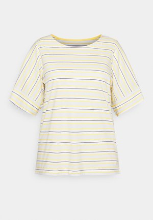 MULTICOLOR STRIPES - Triko s potiskem - soft blue/yellow