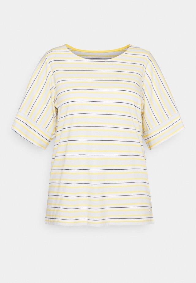 MULTICOLOR STRIPES - Camiseta estampada - soft blue/yellow