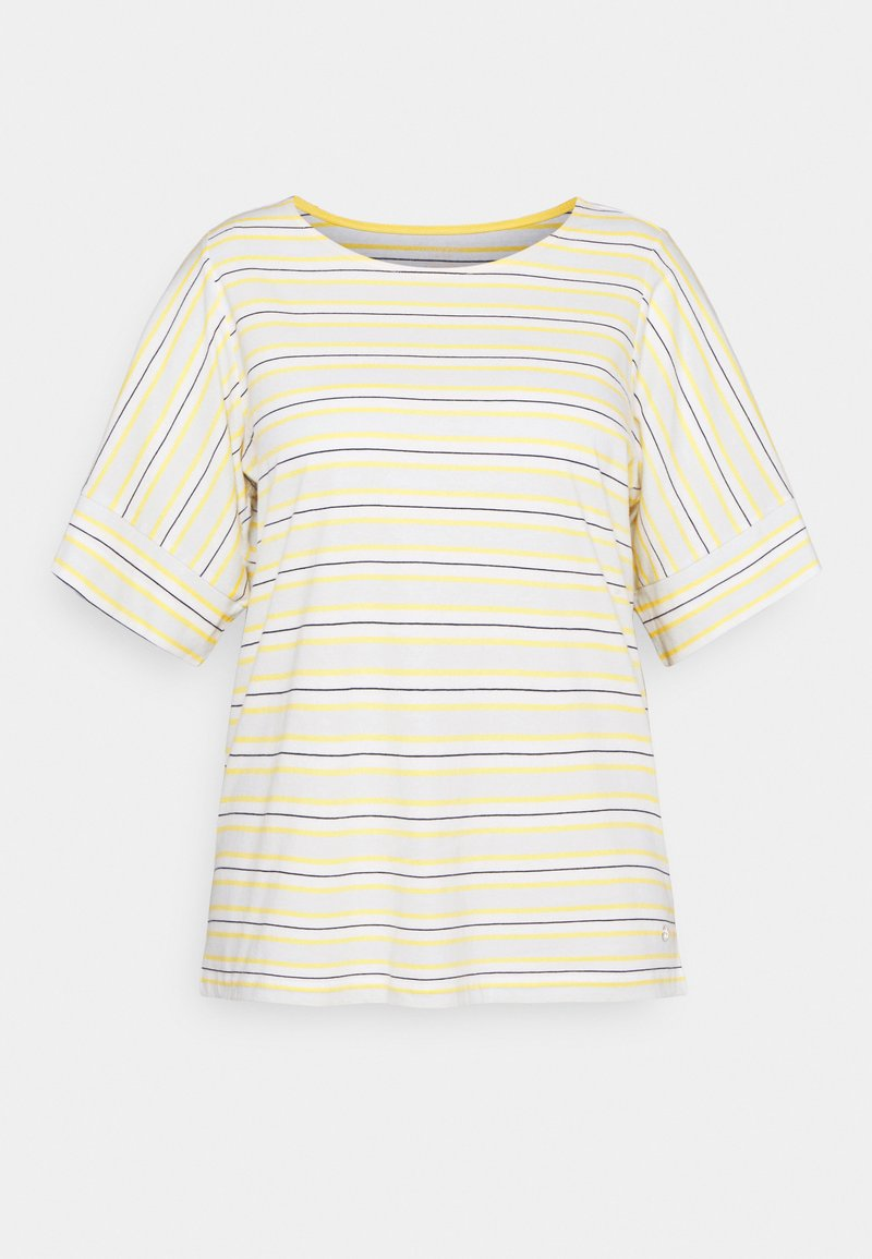 MY TRUE ME TOM TAILOR - MULTICOLOR STRIPES - Print T-shirt - soft blue/yellow