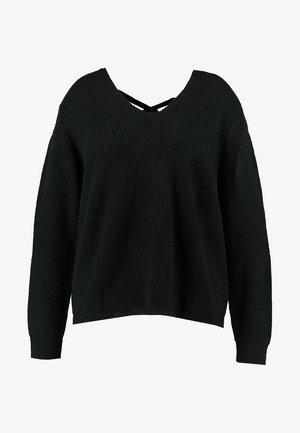 LADIES BACK LACE UP - Jersey de punto - black